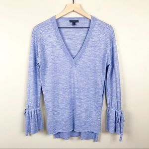 J. Crew Size XS V-Neck Long Ruffle Sleeve Sweater